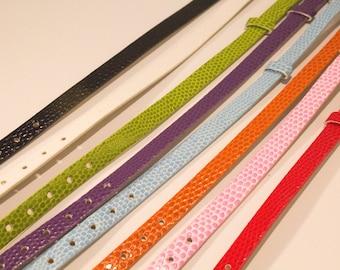 Orange faux leather look snake bracelet