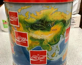 Around the World Coke/Coca Cola Large Tin