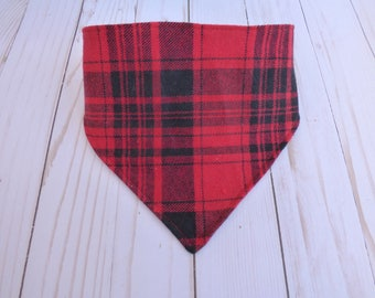 Plaid, Baby Bibs, Bandana Bibs, Red Plaid, Drool Bib, Baby Gifts, Baby Shower Gift, Toddler Bib, Dribble Bib, Flannel, Boy, Black, Nursery