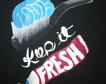 Maschinen und Geräte Vintage 90er Jahre ADIDAS T-Shirt Erwachsene kleinen Shell Toe 3 Stripe Grafitti halten Sie es frisch t Shirt Stoff