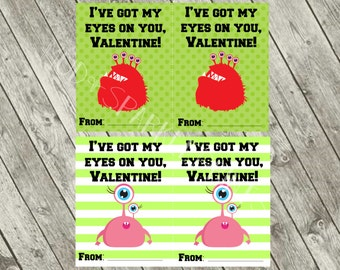 I've got my eyes on you Valentine card