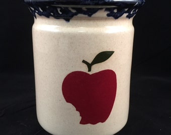 Ceramic Apple Utensil Holder/Caddy, Utensil Holder, Ceramic Apple Utensil Holder