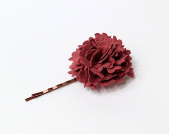 burgundy hairpin dark red accessory for hair jewelry rustic jewelry hair bobby pin for girls gifts daughter boho hair jewelry set of 3 T3