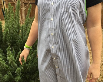 Upcycled Dress Shirt Apron