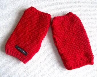 Red gloves fingerless gloves red fingerless gloves Bright red fingerless gloves