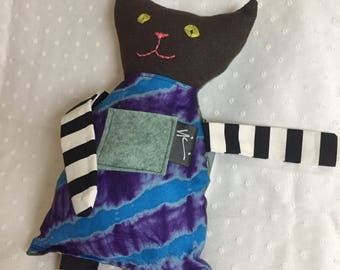 Patchwork kitty cat doll