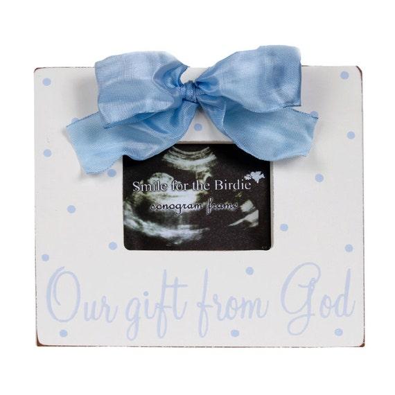 blue frame picture frames sonogram frame our gift from God