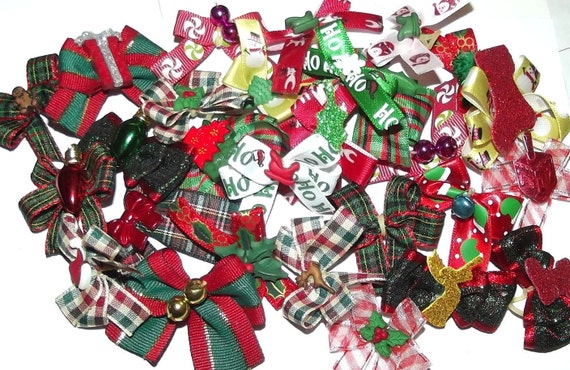 Puppy Bows ~everyday groomers Christmas dog grooming bow