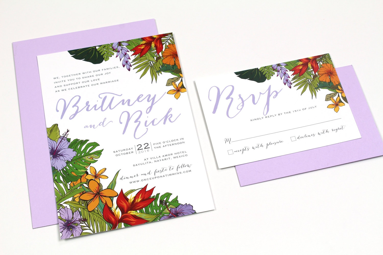 Tropical Wedding Invitations: Tropical Wedding Invitations Destination Wedding Invitations