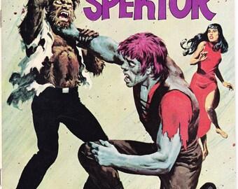 The Occult Files of Doctor Spektor 12, Frankenstein, Werewolf, Halloween Comic, Horror, Universal Monsters book. 1974 Gold Key in VFNM (9.0)