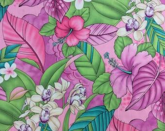 Beautiful Hawaiian Print  (Yardage Available)