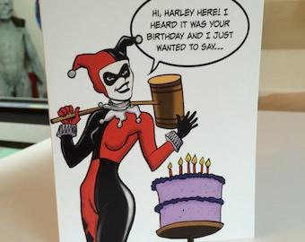 Harley birthday card Etsy