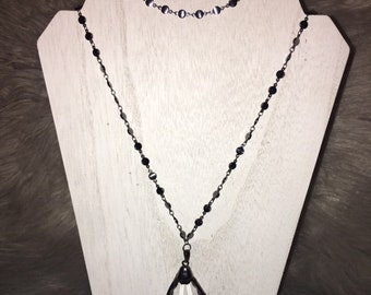Double Wrap Gunmetal Necklace