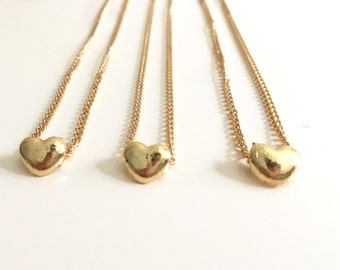 Heart pendant , heart necklace , gold heart necklace ,