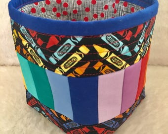 Modern Quilted Fabric Basket