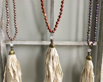 Bohemian Silk Tassel Necklace