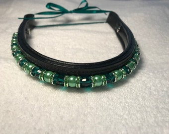 Oversize Size Interchangeable Beaded Browbands