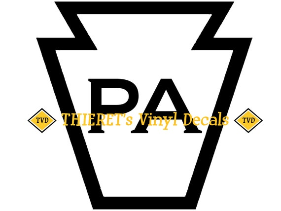 Pennsylvania keystone vinyl car decal laptop decal