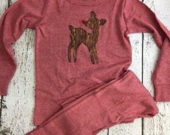Custom Christmas Pajamas, Holiday Pajamas, Christmas pj for family, plaid, reindeer pajama,  baby toddler children's adult pajamas