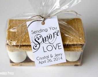 Smore Wedding Favor Tag - Elegant Personalized Printable S'more Love Wedding Favor Tag - PDF - DIY - AA1