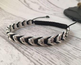 Macramé Friendship Bracelet, Friendship Bracelet, Unisex Bracelet, Stackable Bracelet, Plaited Bracelet, Macrame Jewellery, Fishbone Band