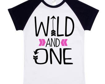Wild and One Graphic, Digital Download, Wild & One Tee Design, First Birthday Tee SVG, Wild One SVG