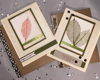 Happy Thoughts Card, Thinking of You Card, Note Card, Card Set, Natural, Organic