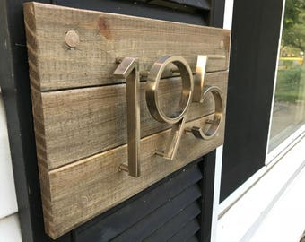 wood address plaque, address plaque, house numbers sign, house numbers