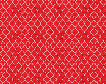Red Quatrefoil Pattern Digital Download
