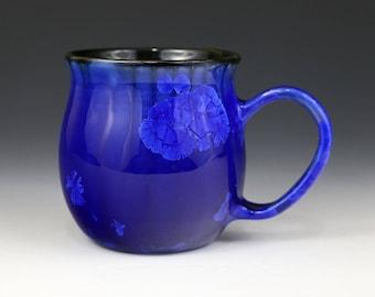 Crystalline 15 oz Mug Dark Cobalt Blue with Black Cup #1282