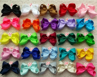 10% OFF! set of 25 pcs 6 inch bows, hair bows for girls, baby girls hair bows, classic hair bows,baby bow, teens hair bow,big hair bows Q