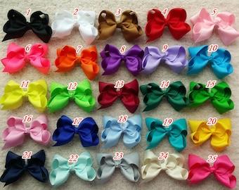 5% off!! set of 25 pcs 4 inch hair bow Girl hair bow Toddler hair bows infant hair bows infant hairbows  40 colors to choose O1