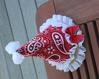 Bandanna print party hat - Farm party hat - First Birthday Hat - Cake Smash Hat - Cake Smash outfit - Girls First Birthday - photo prop