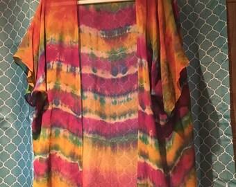 Rainbow Silk Kimono