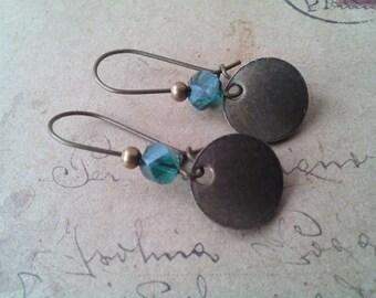 Discs earrings ~ bronze ~.