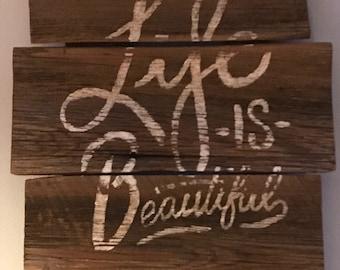 Life is beautiful wall hanging