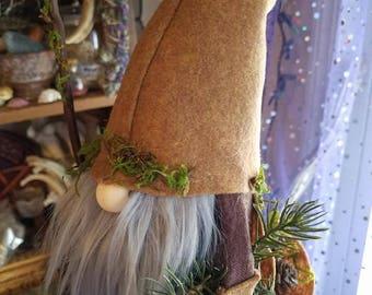 FOREST SPIRIT ~ Tomte, Tomten, Gnome, Nisse, Swedish, Scandinavian, Nordic, felted, Hygge