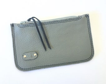 Elliot Coin/Card Pouch:  Dove Grey