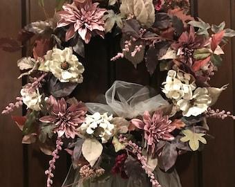 Rustic Country Wedding Decor * Bridal Shower Veil Wreath * Bachelorette Party