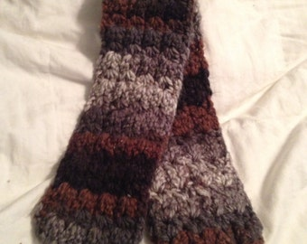 Brown Chenille Scarf
