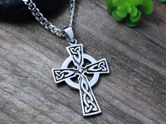 Mens celtic cross necklace sterling silver mens irish mens celtic cross necklace sterling silver mens irish jewelry mens cross jewelry mens celtic cross unisex jewelry 261 mozeypictures Choice Image