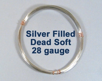 28ga Silver Filled Wire - Dead Soft - Choose Your Length