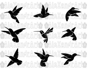 Hummingbird SVG,DXF,PNG,eps,28 files,cutting file,hummingbird,Mangrove Hummingbirds,fly bird,bird
