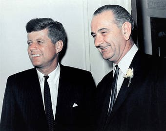 John F. Kennedy and Lyndon Johnson at the 1960 Democratic national convention