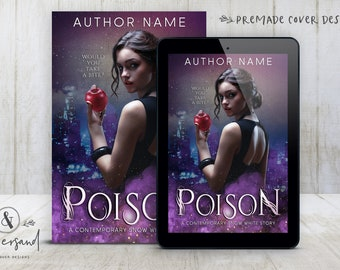 """Premade Digital eBook Book Cover Design """"Poison"""" Paranormal Romance Urban Fantasy Fairy Tale YA Young New Adult Fiction"""