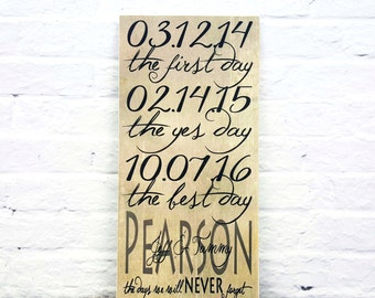 Family Name Sign, First We Had Each Other Wood Sign, Last Name Sign, Important Dates Sign, Anniversary Gift