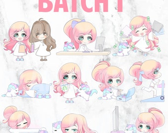 Batch 1 - Lolly and Pop 01 (Kawaii Planner Stickers)