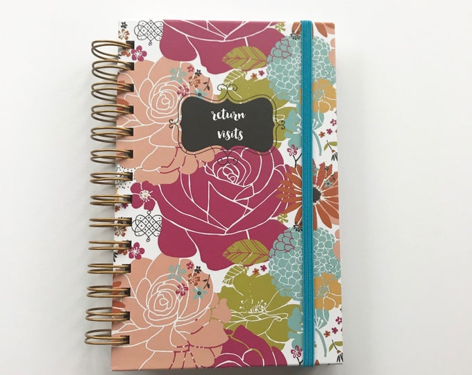 Colorful Blooms Handmade Return Visit Book