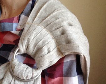 Baby ring sling / linen baby carrier /baby sling / linen baby sling