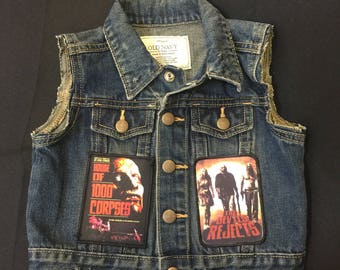 Distressed House of 1000 Corpses, The Devils Rejects and Rob Zombie patch vest